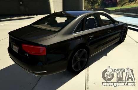 GTA 5 2010 Audi A8 FSI v4.0 vista lateral izquierda trasera