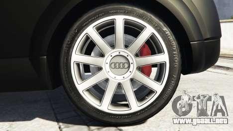GTA 5 Audi TT (8N) 2004 v1.1 [replace] vista lateral trasera derecha