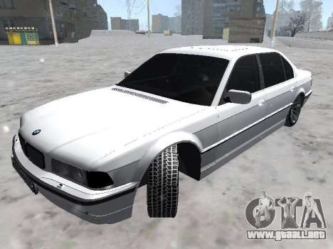 BMW 740I para GTA San Andreas vista posterior izquierda