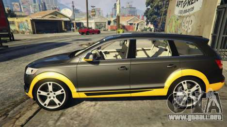 GTA 5 2009 Audi Q7 AS7 ABT vista lateral izquierda