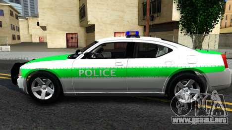 Dodge Charger German Police 2008 para GTA San Andreas left