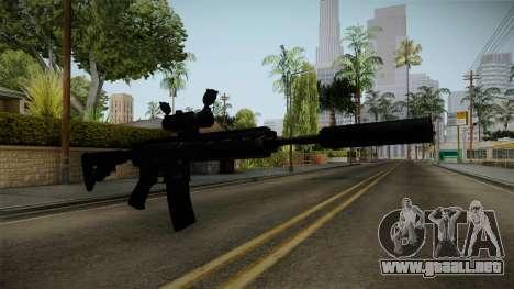 HK416 v4 para GTA San Andreas segunda pantalla