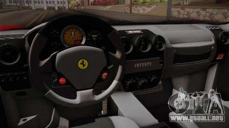 Ferrari F430 para visión interna GTA San Andreas