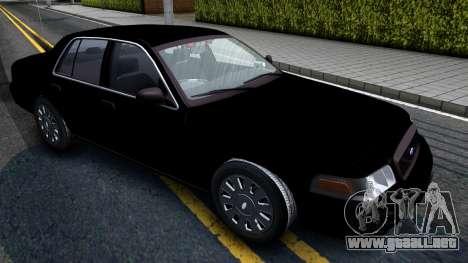 Ford Crown Victoria OHSP Unmarked 2010 para la visión correcta GTA San Andreas