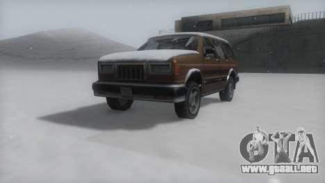 Landstalker Winter IVF para la visión correcta GTA San Andreas