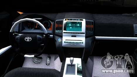 Toyota Land Cruiser Prado para visión interna GTA San Andreas