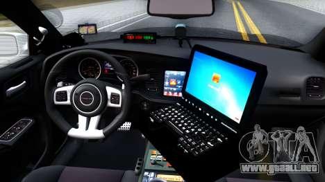Dodge Charger Rittman Ohio Police 2013 para visión interna GTA San Andreas