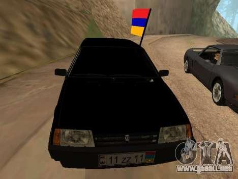 VAZ 2109 Armenian para GTA San Andreas vista hacia atrás