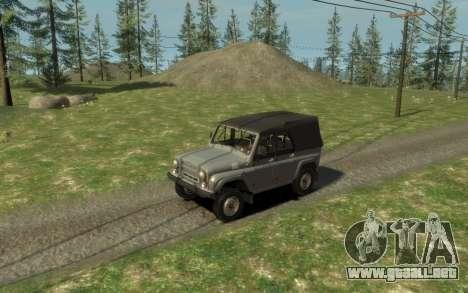 УАЗ 469 (Paul Black prod.) para GTA 4 vista hacia atrás