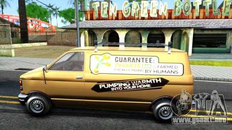 GTA V Declasse Burrito Commercial para GTA San Andreas left