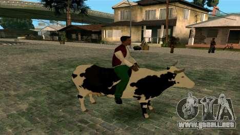 Montar a la vaca para GTA San Andreas segunda pantalla