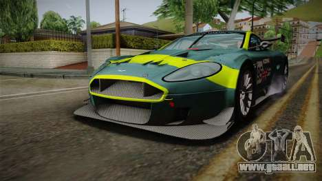 Aston Martin Racing DBRS9 GT3 2006 v1.0.6 para GTA San Andreas interior
