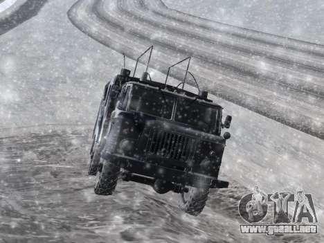 GAZ-66 para GTA San Andreas vista posterior izquierda