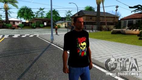Bullet For My Valentine T-shirt para GTA San Andreas segunda pantalla