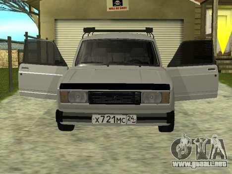 Vaz 2104 krasnoyarsk para GTA San Andreas left