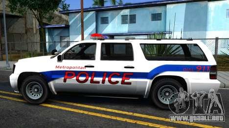 Declasse Granger Metropolitan Police 2012 para GTA San Andreas left