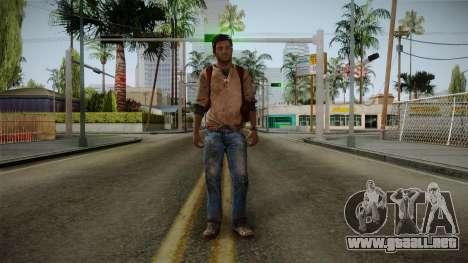 Uncharted Golden Abyss - Nathan Drake para GTA San Andreas segunda pantalla