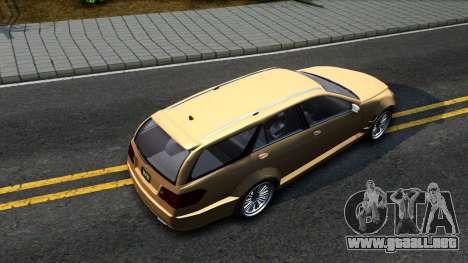 GTA V Benefactor Schafter Wagon para GTA San Andreas vista hacia atrás