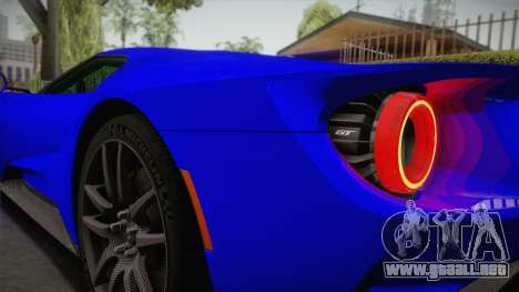Ford GT 2017 para vista lateral GTA San Andreas