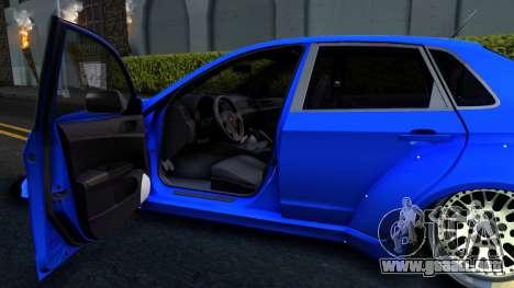 Subaru WRX STi Widebody para GTA San Andreas vista hacia atrás