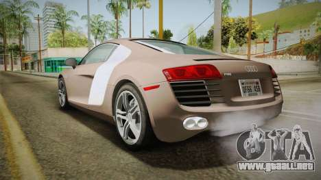 Audi R8 Coupe 4.2 FSI quattro US-Spec v1.0.0 v4 para GTA San Andreas left