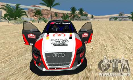 Audi RS3 Sportback Rally WRC para vista inferior GTA San Andreas