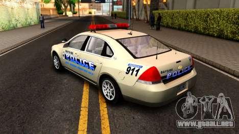 2007 Chevy Impala Bayside Police para la visión correcta GTA San Andreas