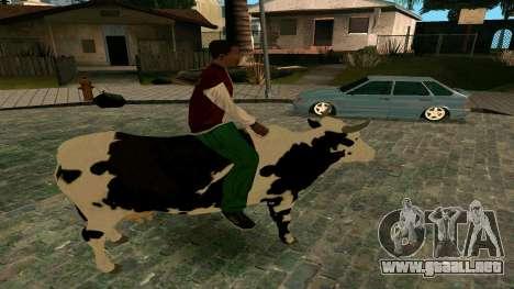 Montar a la vaca para GTA San Andreas tercera pantalla