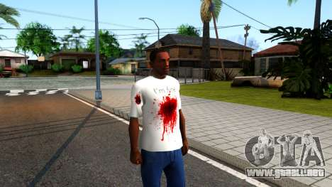 White I am Fine T-Shirt para GTA San Andreas segunda pantalla