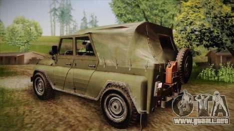 УАЗ-3151 CoD4 MW Remasterizado para GTA San Andreas left