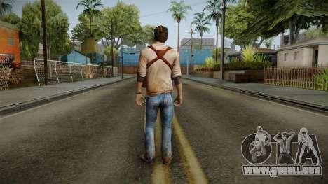 Uncharted Golden Abyss - Nathan Drake para GTA San Andreas tercera pantalla