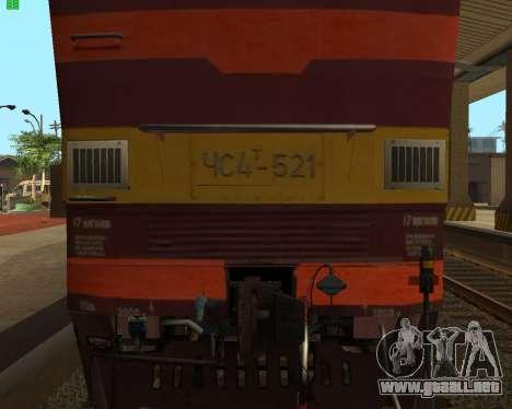 Locomotora de pasajeros CHS4t-521 para visión interna GTA San Andreas