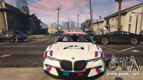 GTA 5 BMW 3.0 CSL Hommage R Concept delantero derecho vista lateral