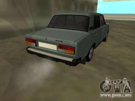 2107 para GTA San Andreas vista hacia atrás