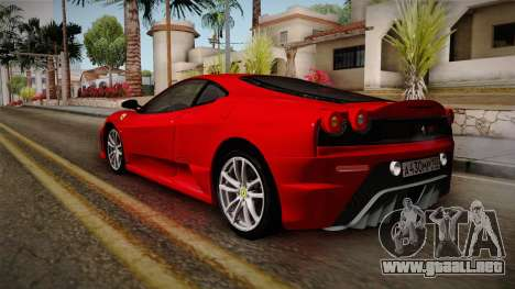 Ferrari F430 para GTA San Andreas vista posterior izquierda