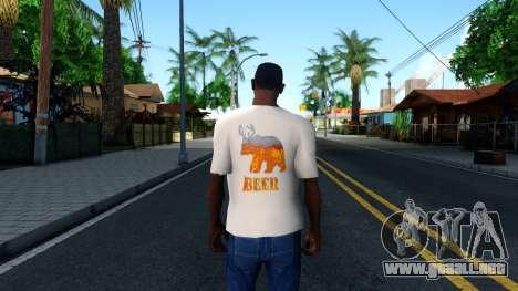 White Beer T-Shirt para GTA San Andreas tercera pantalla