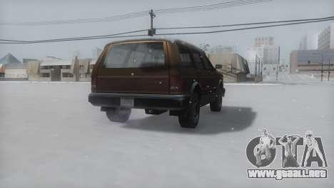 Landstalker Winter IVF para GTA San Andreas vista posterior izquierda