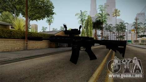 HK416 v4 para GTA San Andreas tercera pantalla