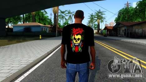 Bullet For My Valentine T-shirt para GTA San Andreas tercera pantalla