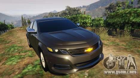 GTA 5 Chevrolet Impala 2015 vista lateral trasera derecha