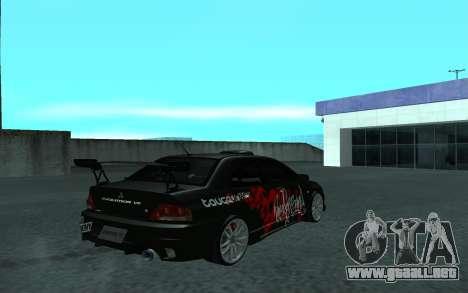 Mitsubishi Lancer Evolution VII para visión interna GTA San Andreas