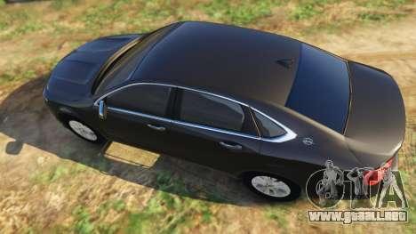 GTA 5 Chevrolet Impala 2015 vista trasera