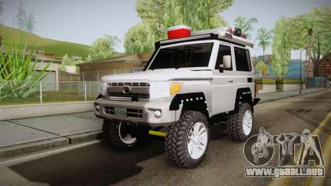 Toyota Land Cruiser Machito 2013 Sound Y para GTA San Andreas