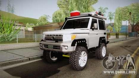 Toyota Land Cruiser Machito 2013 Sound Y para GTA San Andreas