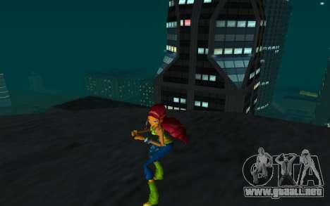 Aisha Rock Outfit from Winx Club Rockstars para GTA San Andreas segunda pantalla