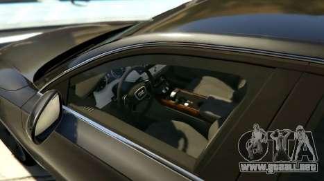 GTA 5 2010 Audi A8 FSI v4.0 vista lateral izquierda
