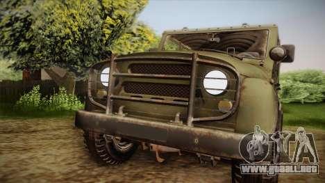 УАЗ-3151 CoD4 MW Remasterizado para la visión correcta GTA San Andreas