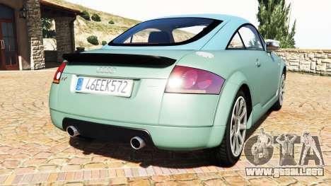 GTA 5 Audi TT (8N) 2004 v1.1 [add-on] vista lateral izquierda trasera