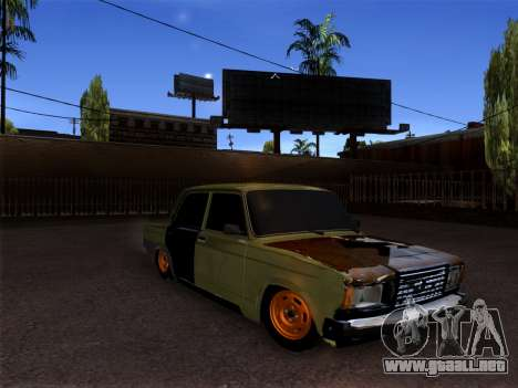 VAZ 2107 hobo para GTA San Andreas left