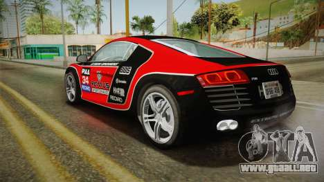 Audi R8 Coupe 4.2 FSI quattro US-Spec v1.0.0 v4 para las ruedas de GTA San Andreas